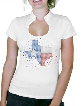 Texas map in rhinestone - Lady T-shirt