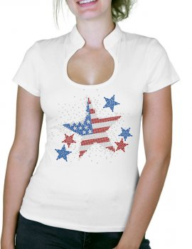 Stars USA - Woman t-shirt Col Omega