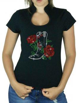 Botte & Roses - T-shirt femme Col Omega