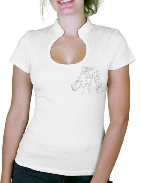Tête de Cheval - T-shirt femme Col Omega