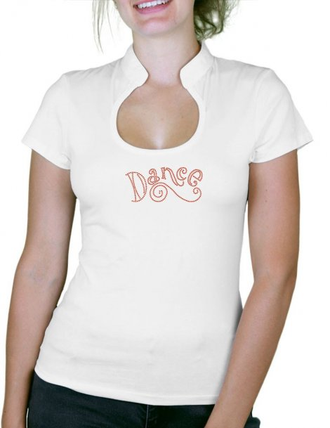 Dance Strass - T-shirt femme Col Omega