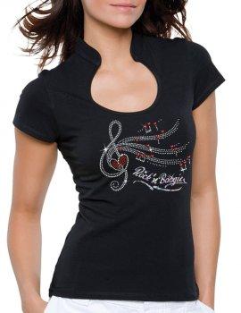 Clé de Sol Rock'n Boogie - T-shirt femme Col Omega