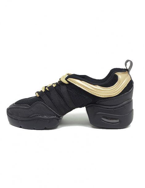 Black and Gold Dance Sneakers