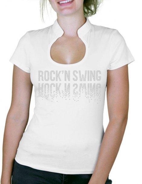 Rock'n Swing Miroir - T-shirt femme Col Omega