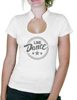 Macaron Line Dance Epuré - T-shirt femme Col Omega
