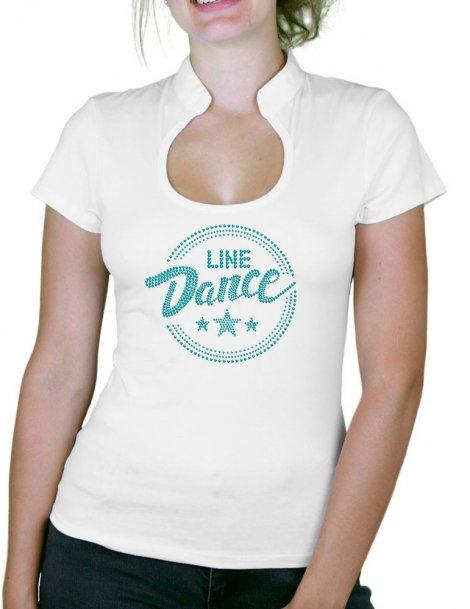 Macaron Line Dance - T-shirt femme Col Omega
