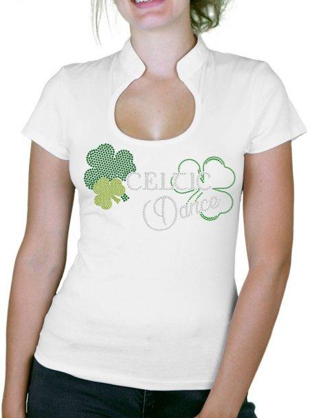 Celtic Dance - T-shirt femme Col Omega