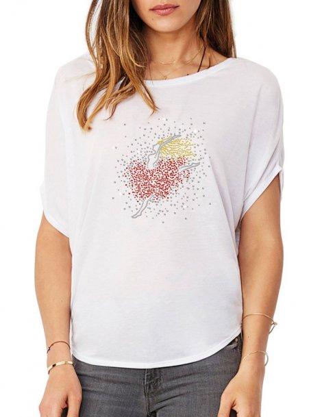 Petite Danseuse - T-shirt femme Manches Chauve Souris