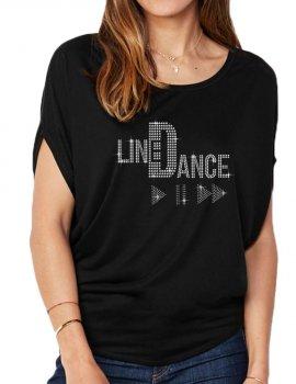 Line Dance Play - T-shirt femme Manches Chauve Souris
