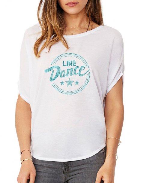 Macaron Line Dance Epuré - Women's T-shirt Bat Sleeves