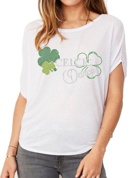 Celtic Dance - T-shirt femme Manches Chauve Souris