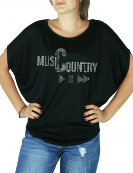 Country Music PLay - Women's T-shirt Bat Sleeves