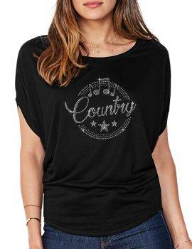 Country Macaron - Women's T-shirt Bat Sleeves