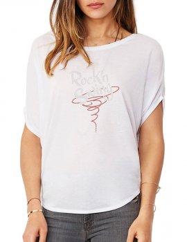 Rock'n Swing Spirale - T-shirt femme Manches Chauve Souris
