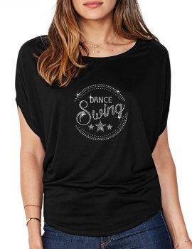 Macaron Dance Swing - T-shirt femme Manches Chauve Souris