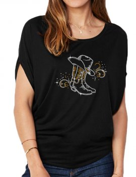 Bottes & Arabesques - T-shirt femme Manches Chauve Souris