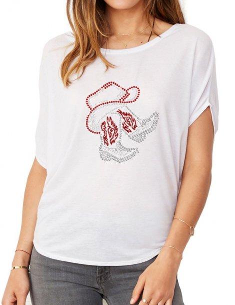 Bottes Sous Chapeau - T-shirt femme Manches Chauve Souris
