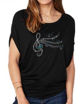 Clé De Sol - T-shirt femme Manches Chauve Souris