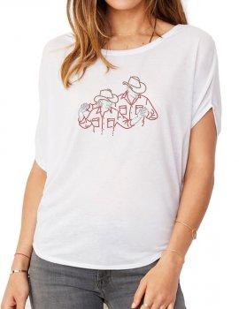 Couple de Danseurs - T-shirt femme Manches Chauve Souris