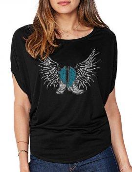 Bottes Ailées- T-shirt femme Manches Chauve Souris