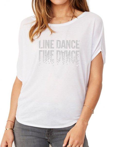 Line Dance Miroir - T-shirt femme Manches Chauve Souris