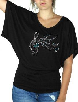 Clé De Sol - T-shirt femme Manches Papillon