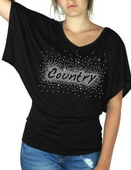 Country Eclaté - T-shirt femme Manches Papillon