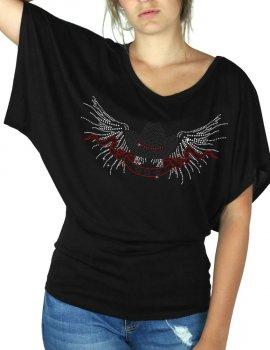 Chapeau Ailés - T-shirt femme Manches Papillon
