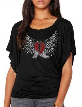 Bottes Ailées - T-shirt femme Manches Papillon