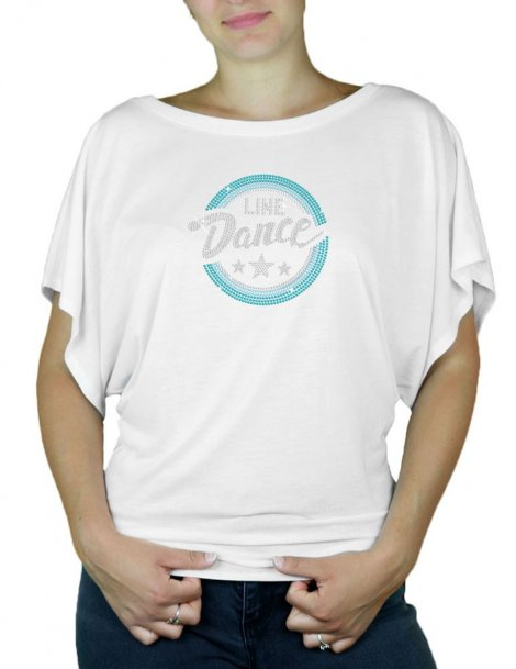 Macaron Line Dance - T-shirt femme Manches Papillon