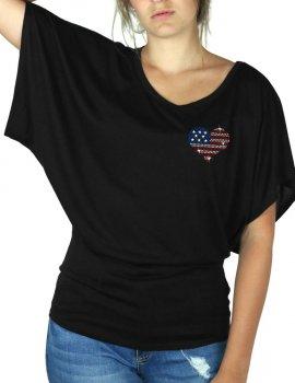 Petit Coeur USA - T-shirt femme Manches Papillon