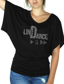 Line Dance Play - T-shirt femme Manches Papillon