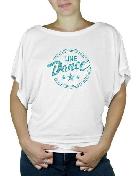 Macaron Line Dance Epuré - T-shirt femme Manches Papillon