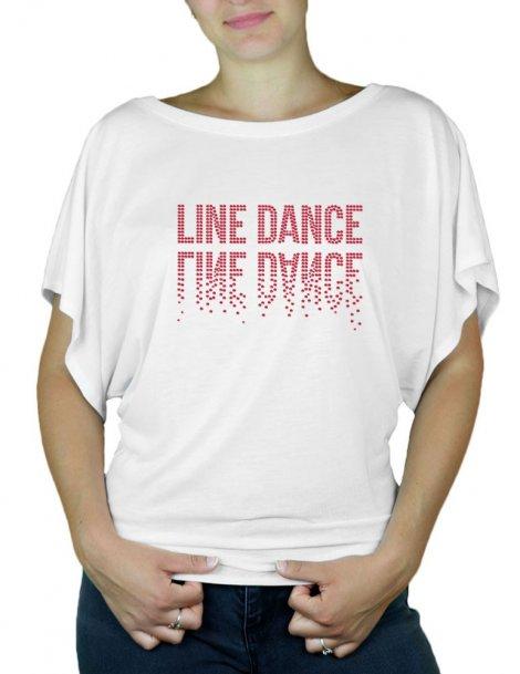 Line Dance Miroir - T-shirt femme Manches Papillon