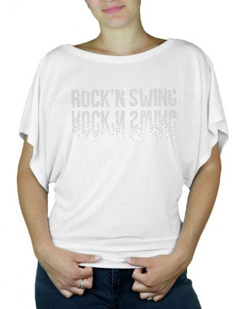 Rock'n Swing Miroir - T-shirt femme Manches Papillon