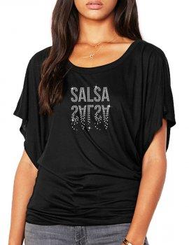 Salsa Miroir - T-shirt femme Manches Papillon