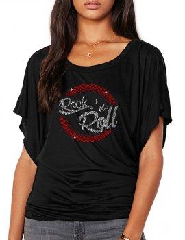Macaron Rock'n Roll - T-shirt femme Manches Papillon