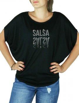 Salsa Miroir - T-shirt femme Manches Chauve Souris