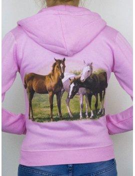 veste rose trois chevaux enfant