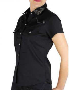 Country Music shirt with Rhinestone collar
