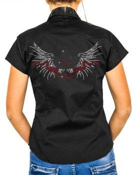 Winged Cowboy hat - lady shirt