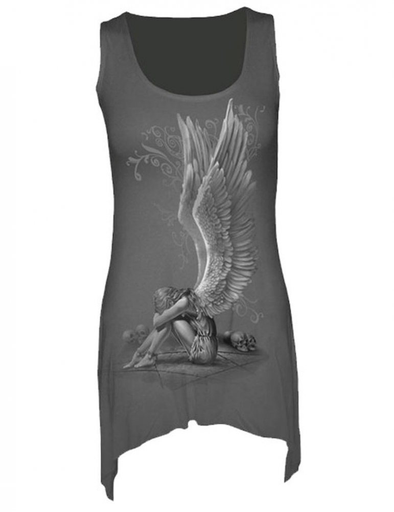 71b363a668a54 Enslaved Angel - Tunique gothique - Femme - GRAPHI-TEE