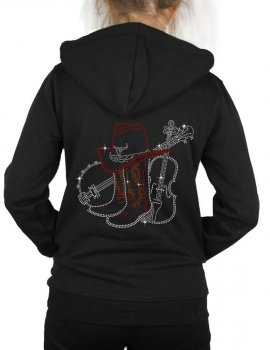 Grand Banjo & Violon - Hooded women's jacket