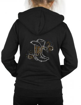 Bottes & Arabesques - Hooded women's jacket