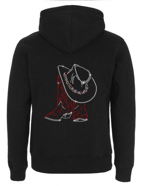 Santiags & Chapeau -Men's Hooded Jacket