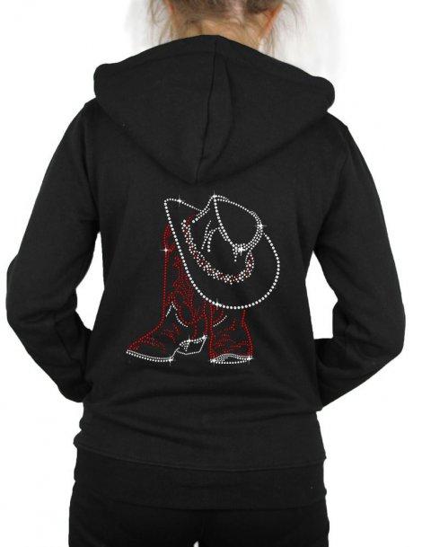 Santiags & Chapeau -Hooded women's jacket