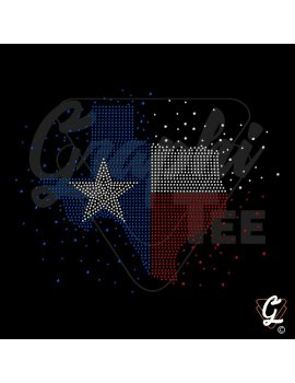 Strass en plaque motif texas