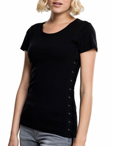 Laced-Up tee- T-shirt femme