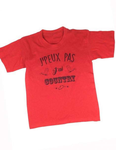 J' peux j'ai country - t-shirt enfant rouge