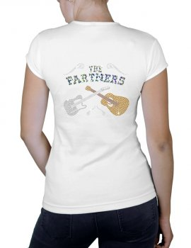 The PARTNERS - T-shirt femme Blanc col V